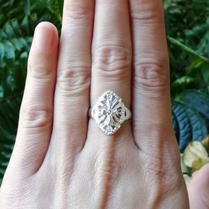 NWOT Sterling Silver Intricate Filigree Ring